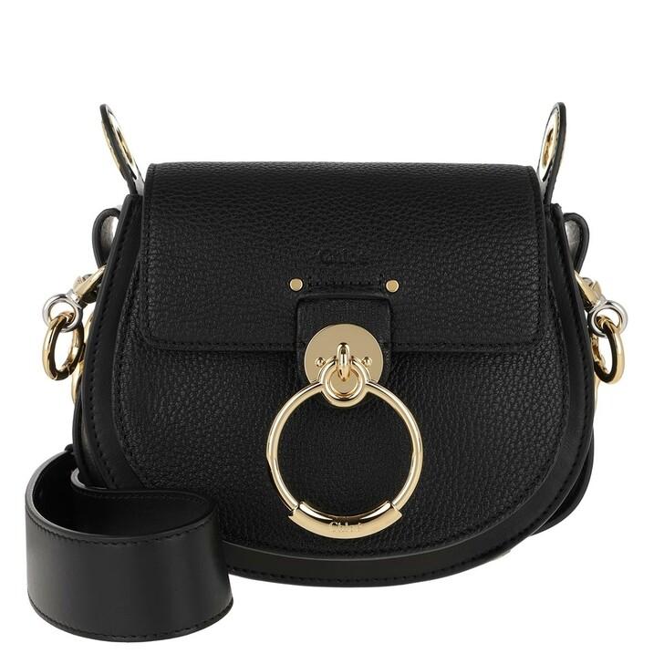 bags, Chloé, Tess Shoulder Bag Leather Black