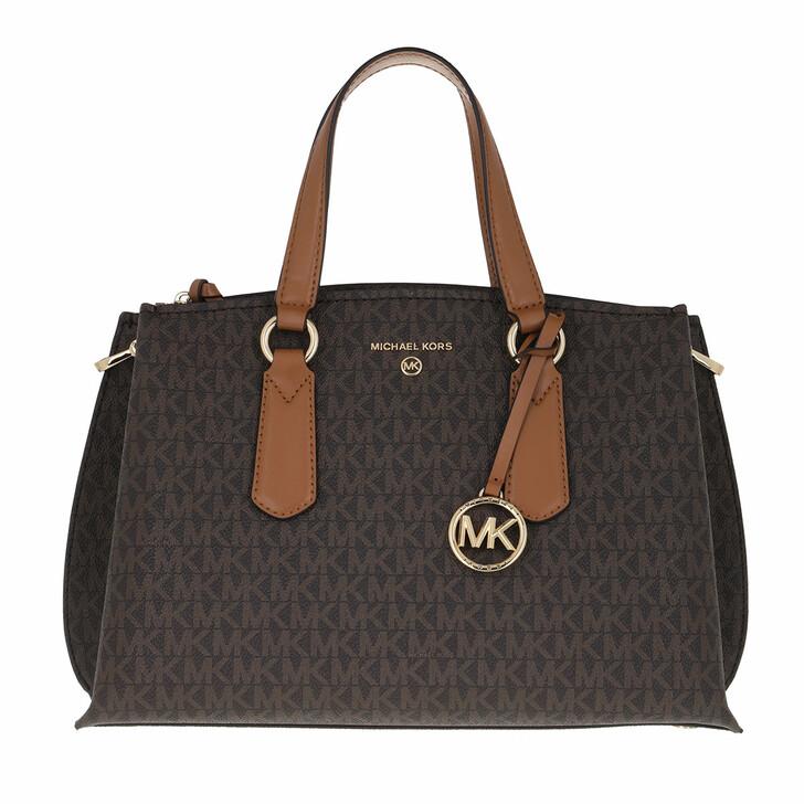 bags, MICHAEL Michael Kors, Medium Satchel Brn/Acorn