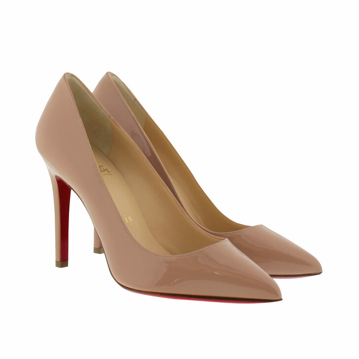 Schuh, Christian Louboutin, Pigalle 100 Patent Pump Nude