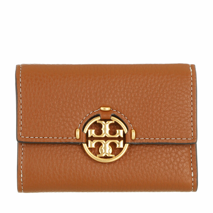 wallets, Tory Burch, Miller Medium Flap Wallet Light Umber