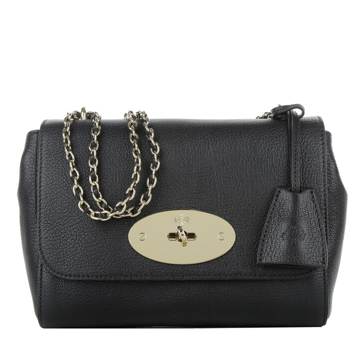Handtasche, Mulberry, Lily Glossy Goat Black