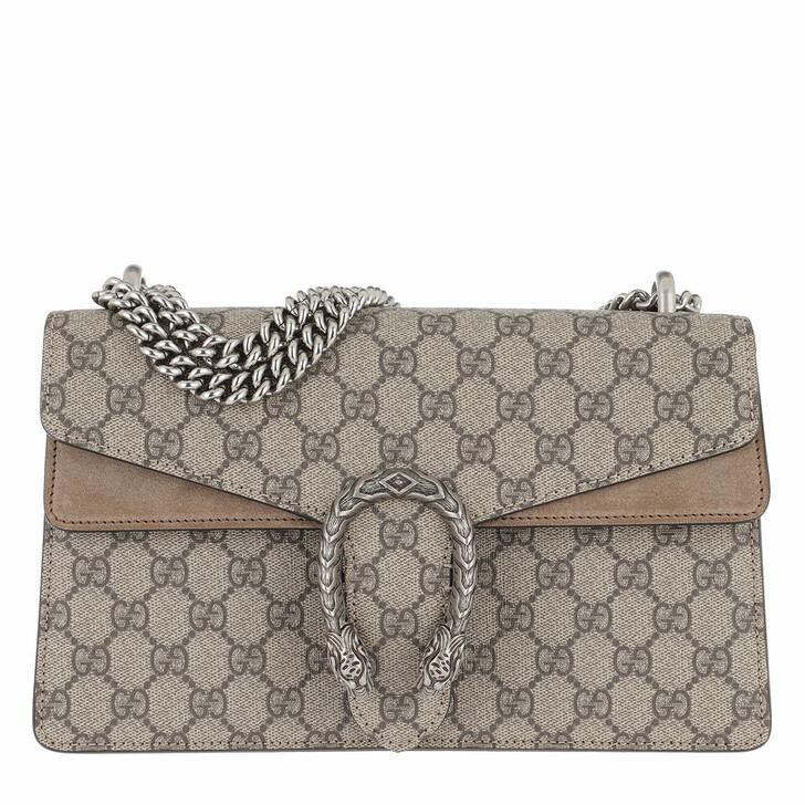 Handtasche, Gucci, GG Dionysus Small Shoulder Bag Ebony/Taupe