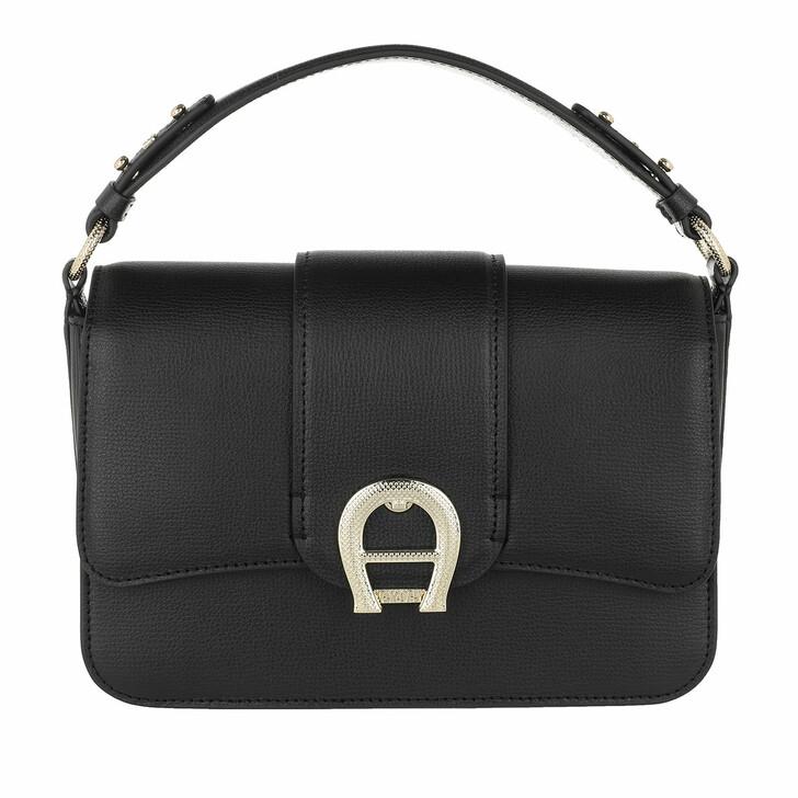 Handtasche, AIGNER, Verona Handle Bag Black