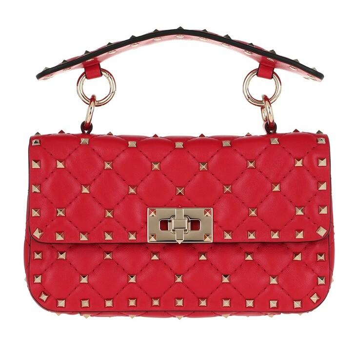 bags, Valentino Garavani, Rockstud Spike Crossbody Bag Small Rouge Pur