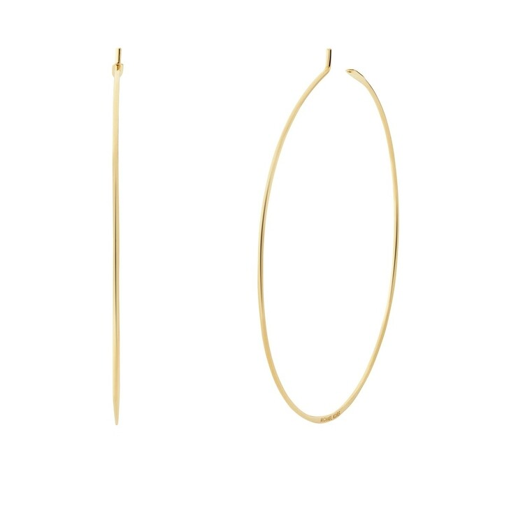 Ohrring, Michael Kors, 14k Gold-Plated Sterling Silver Large Whisper Hoop Yellow Gold