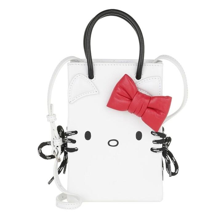 Handtasche, Balenciaga, Kitty Phone Holder Shoulder Bag Leather White