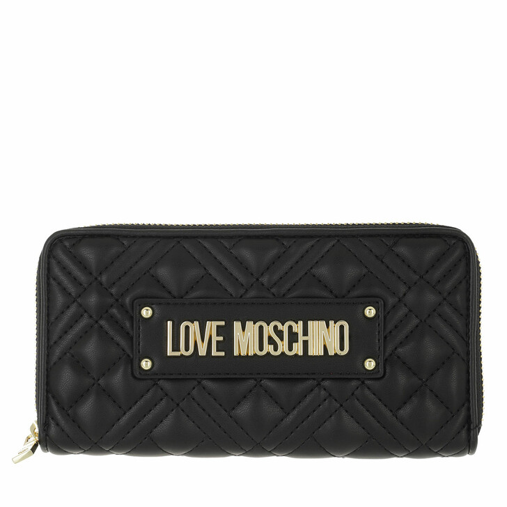 wallets, Love Moschino, Portafogli Quilted Pu Nero
