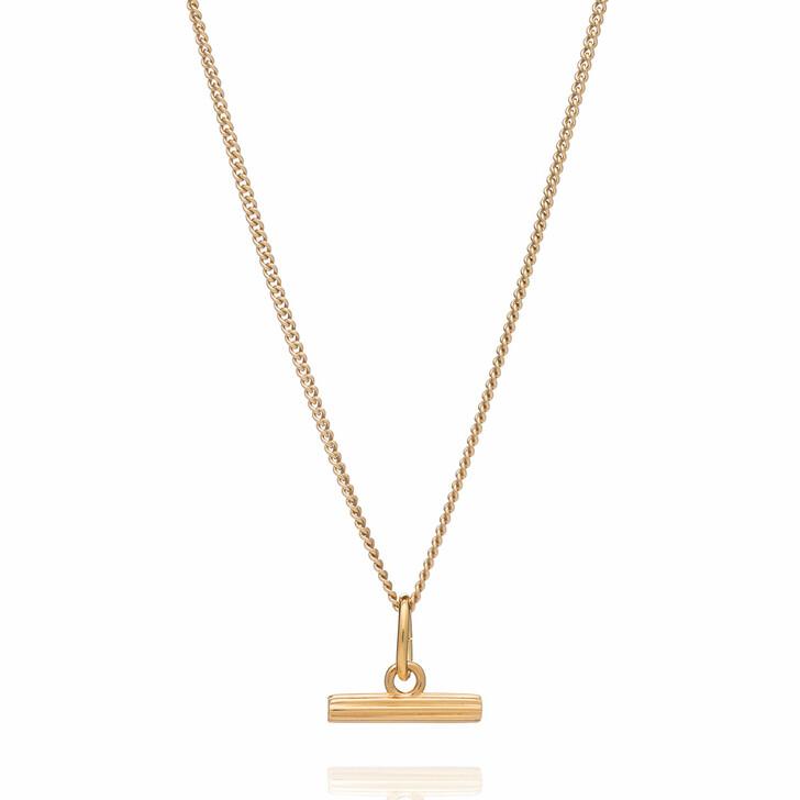Kette, Rachel Jackson London, Mini Gold T-Bar Necklace Gold