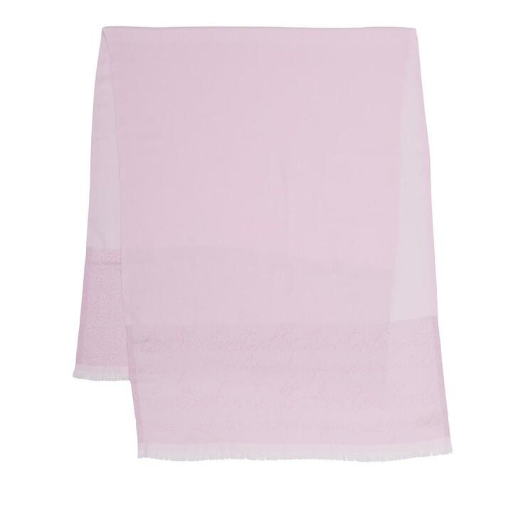 Schal, Ted Baker, Monogram Lurex Long Scarf Light Pink