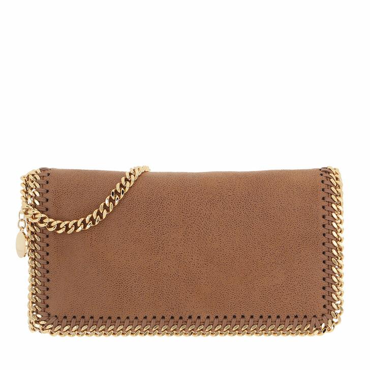 bags, Stella McCartney, Falabella Shaggy Fold Clutch Small Deer/Gold