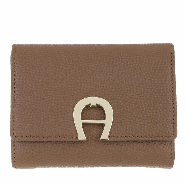 wallets, AIGNER, Genoveva Wallet Dark Toffee Brown