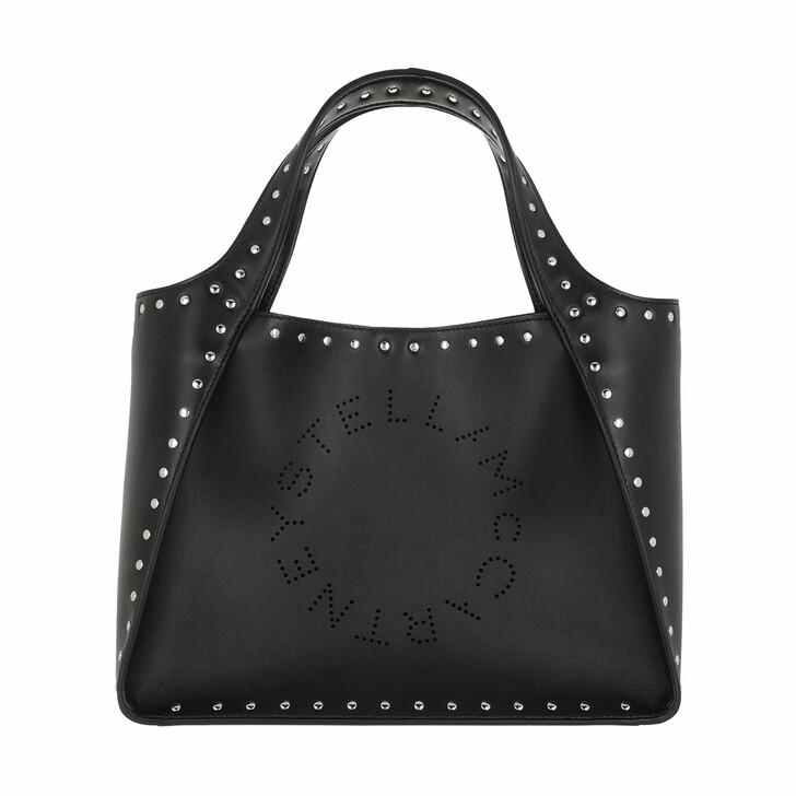 Handtasche, Stella McCartney, Logo Handle Bag Black