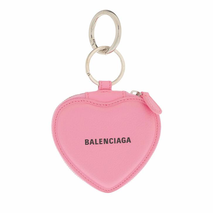 wallets, Balenciaga, Cash Heart Mirror Case Wallet Rosa
