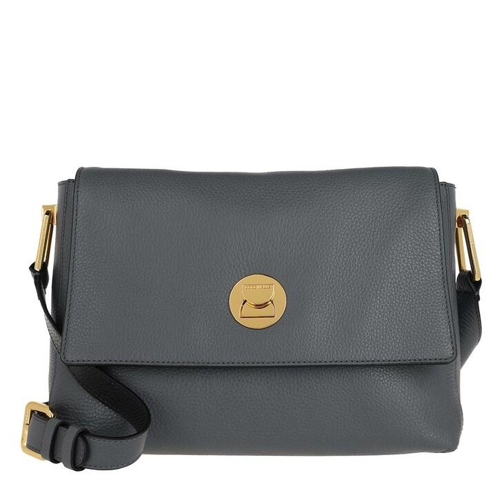 bags, Coccinelle, Handbag Grainy Lea Ash Grey/Noir