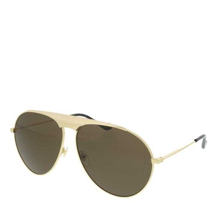 Sonnenbrille, Gucci, GG0908S-001 65 Sunglass MAN METAL GOLD