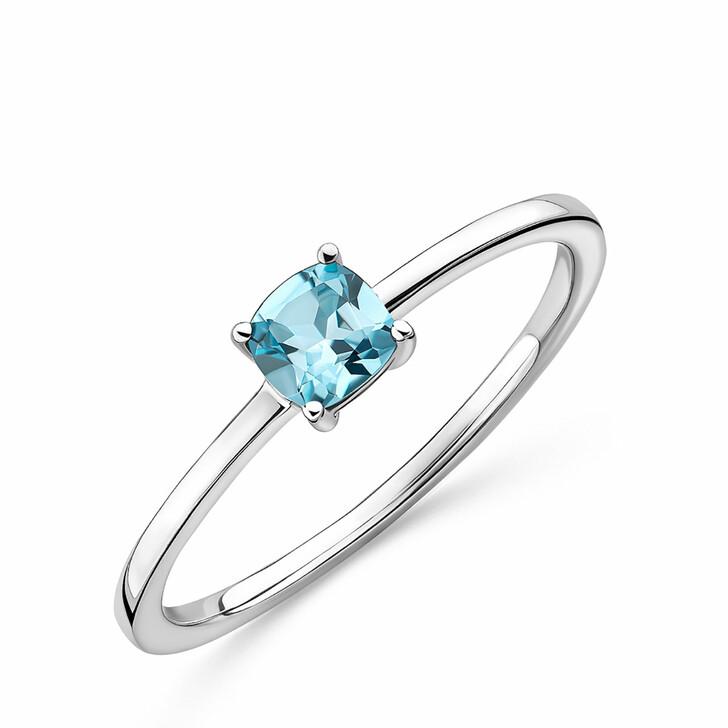 rings, DIAMADA, 9KT Topaz Ring White Gold
