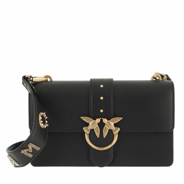 bags, Pinko, Love Classic Icon Simply 1 Fl  Nero Limousine