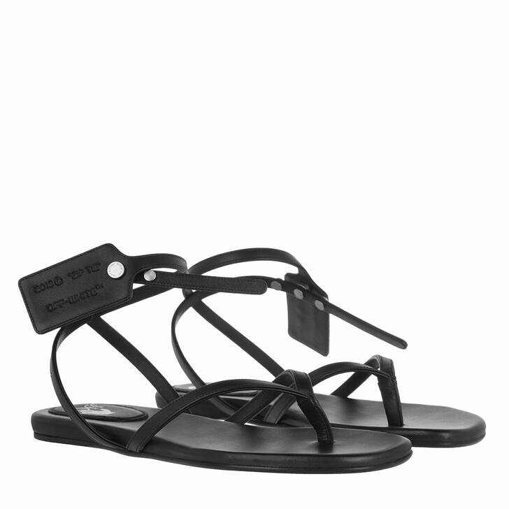 shoes, Off-White, Ziptie Flat Sandal Black