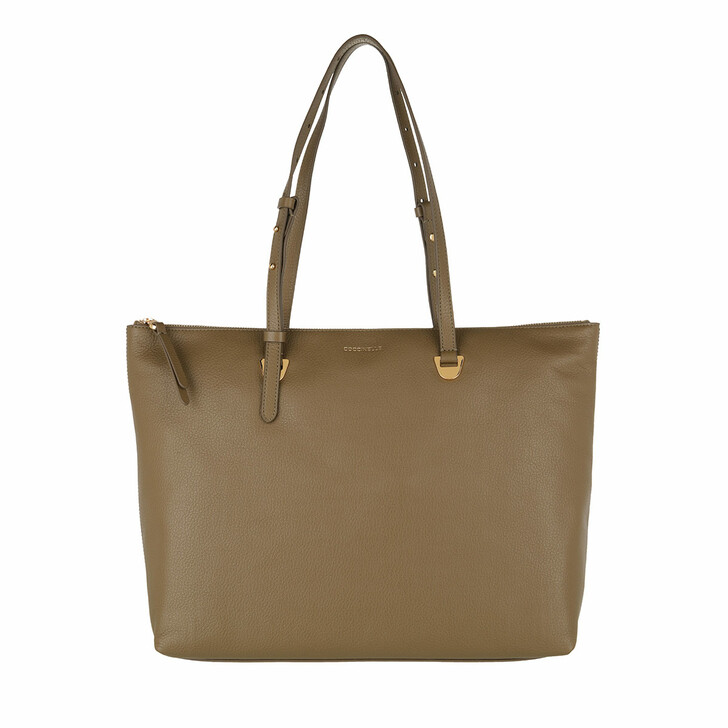 bags, Coccinelle, Handbag Grained Leather  Moss Green