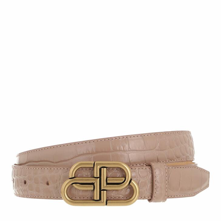 belts, Balenciaga, BB Thin Belt Beige