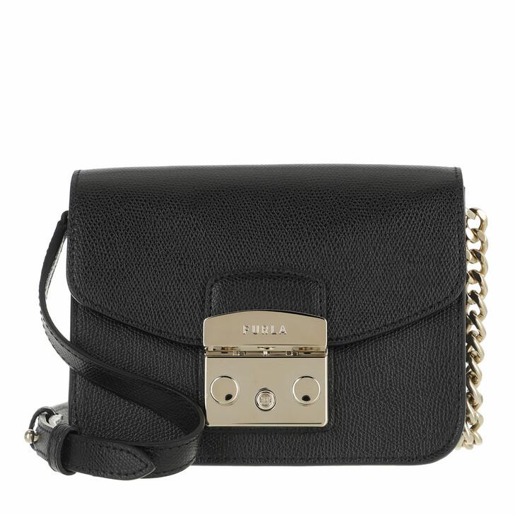 Handtasche, Furla, Metropolis Mini Crossbody Nero