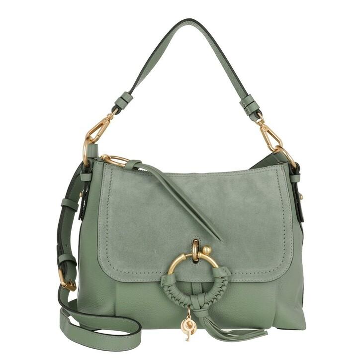 Handtasche, See By Chloé, Joan Grained Shoulder Bag Leather Misty Forest