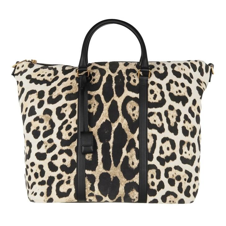 Handtasche, Saint Laurent, Tote Bag Leather Leo Naturale