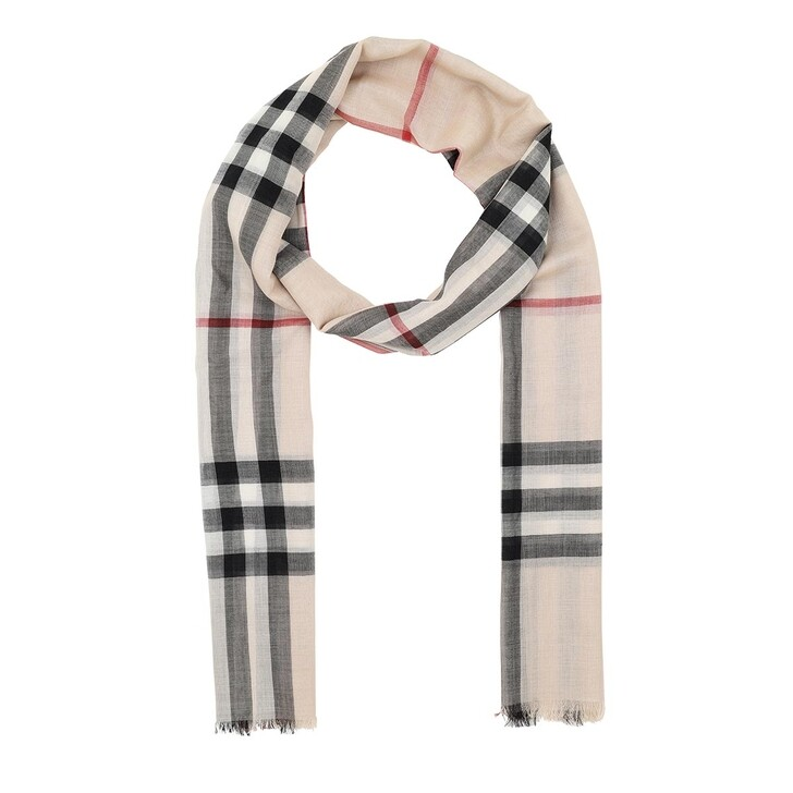 Schal, Burberry, Giant Check Scarf Stone Check