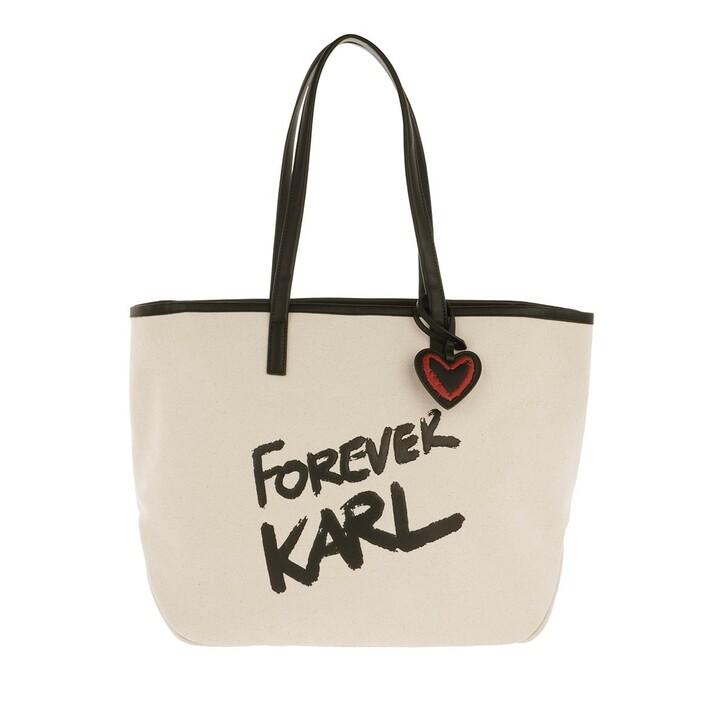 Handtasche, Karl Lagerfeld, Forever Canvas Shopping Bag Natural