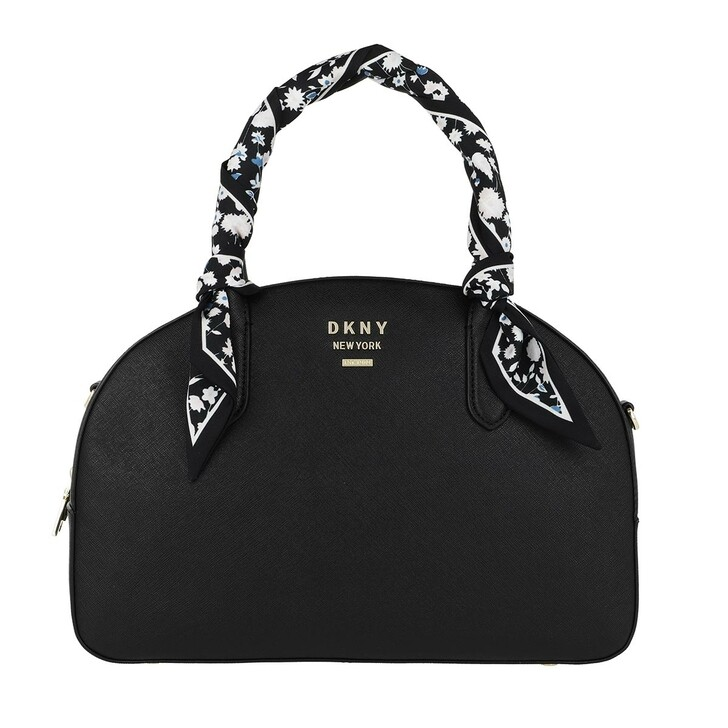 Handtasche, DKNY, Liza Dome Satchel Blk/Gold