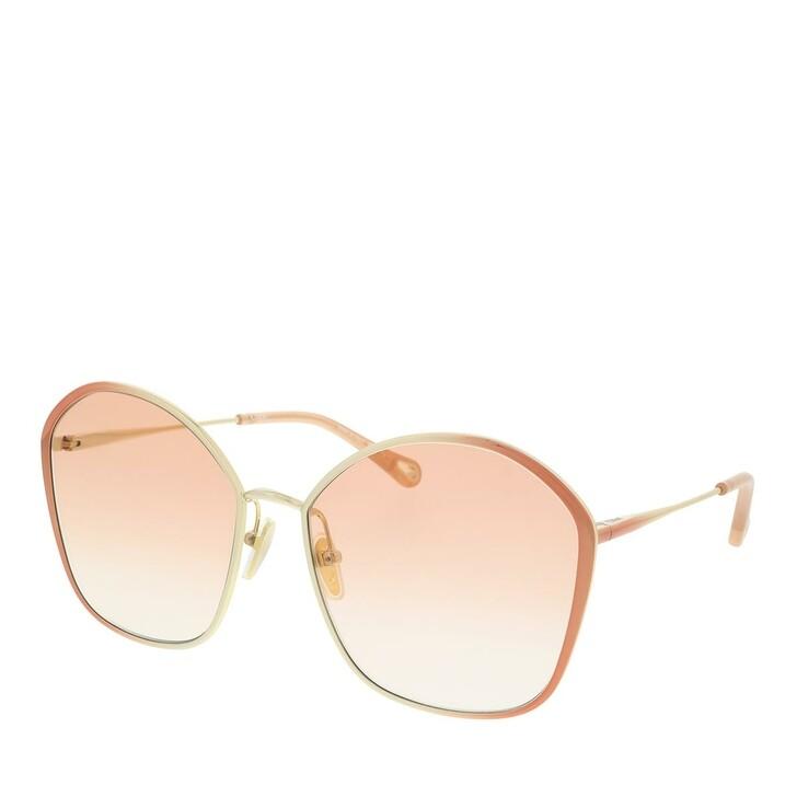 Sonnenbrille, Chloé, Sunglass WOMAN METAL NUDE-NUDE-ORANGE