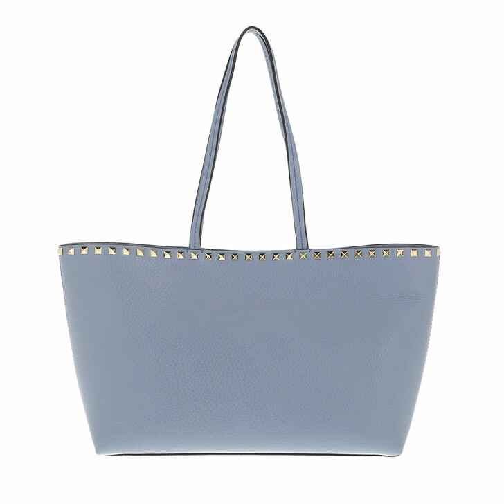 bags, Valentino Garavani, Rockstud Shopping Bag Calfskin Niagara Blue