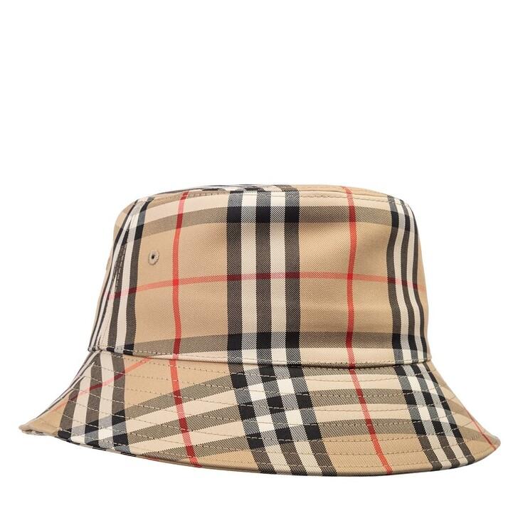 Mütze, Burberry, Vintage Check Bucket Hat Archive Beige