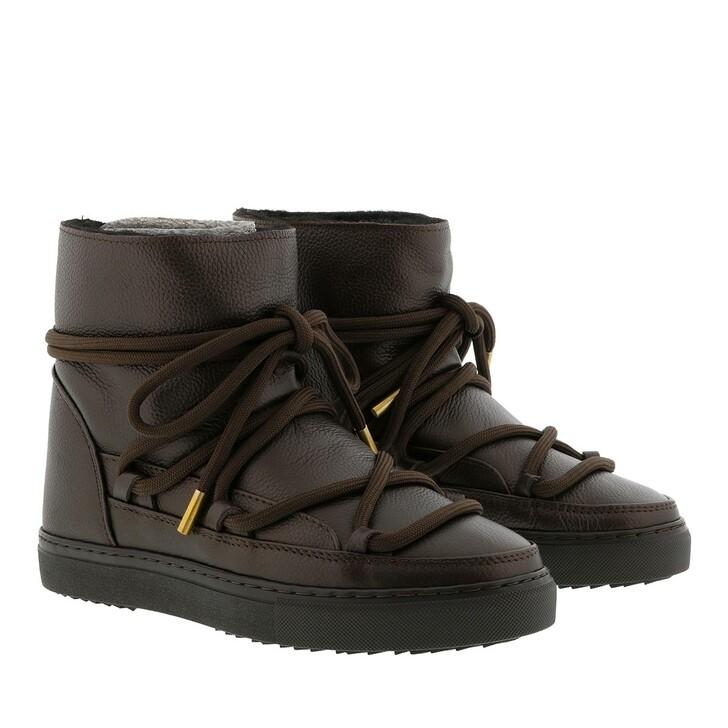 Schuh, INUIKII, Sneaker Full Leather Dark Brown