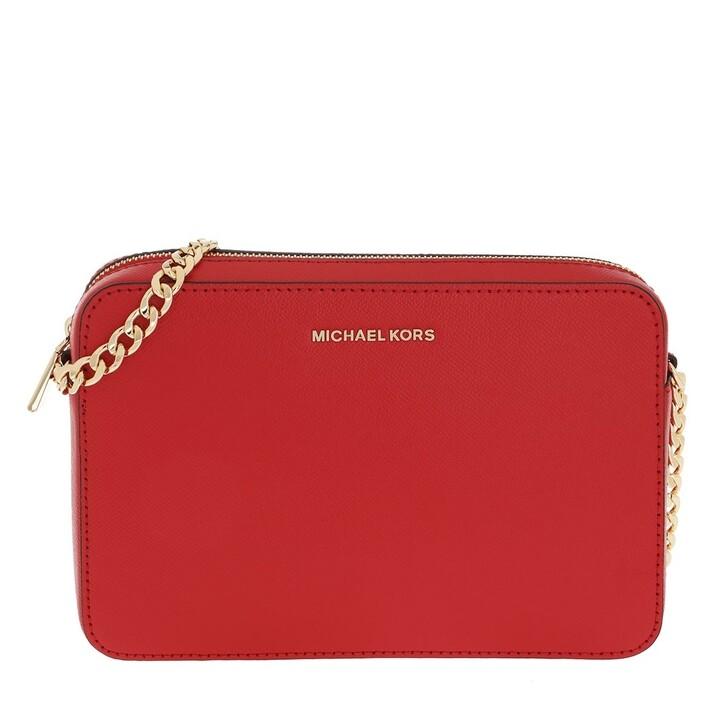 bags, MICHAEL Michael Kors, Large Ew Crossbody Handbag  Leather Bright Red