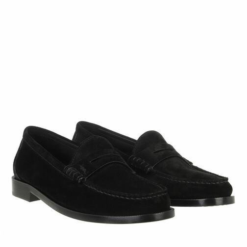 saint laurent -  Slipper & Pantoletten - Le Loafer Monogram Penny Slippers Leather - in schwarz - für Damen