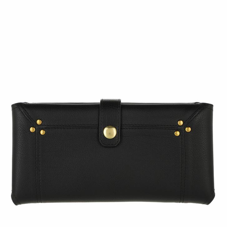 wallets, Jerome Dreyfuss, Porte mobile M Noir Brass