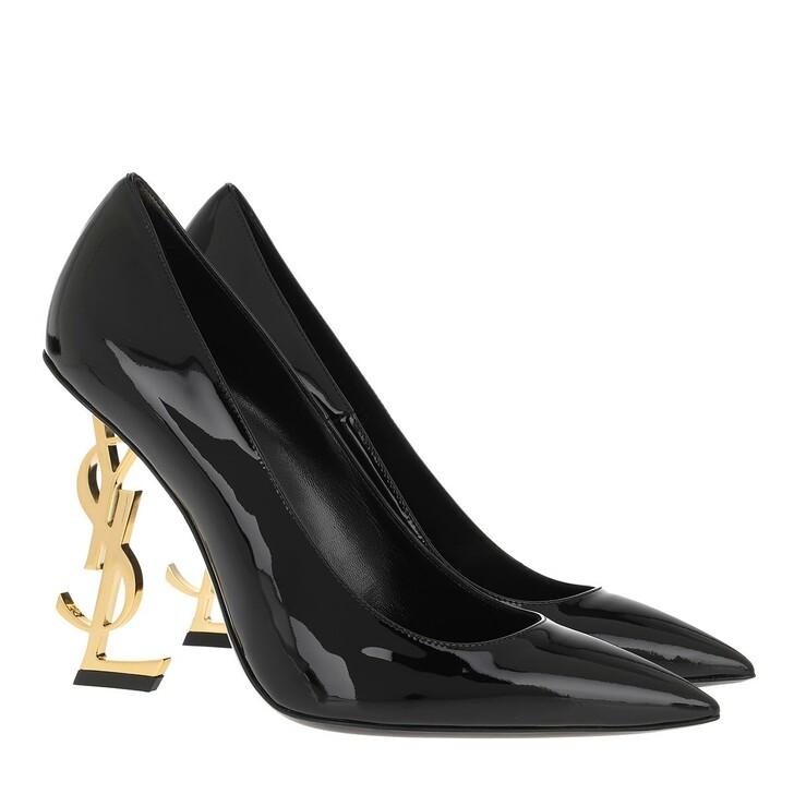 Schuh, Saint Laurent, Logo High Heel Pumps Leather Black