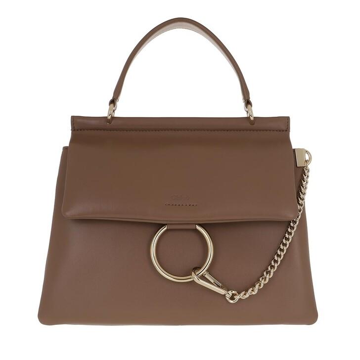 bags, Chloé, Faye Top Handle Bag Leather Desert Taupe