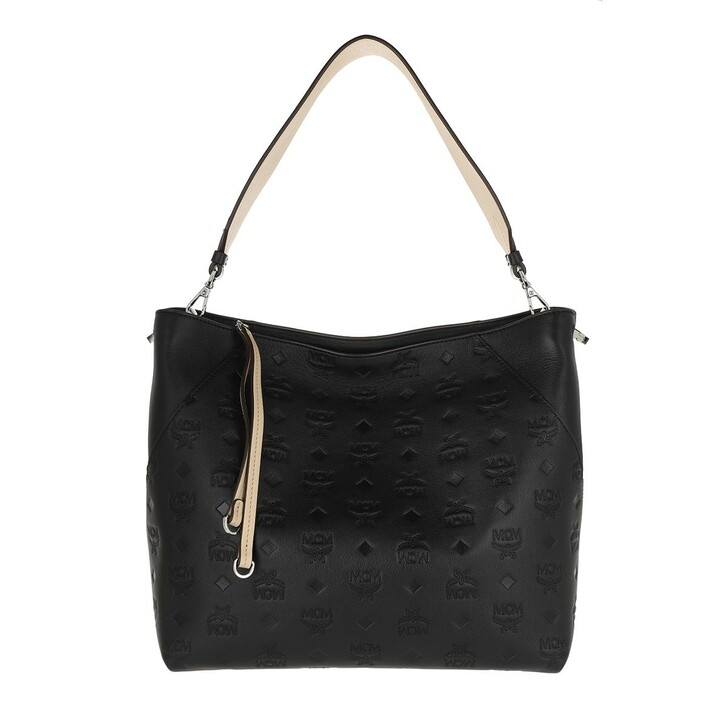Handtasche, MCM, Klarar Mn Leather Hobo Medium   Black