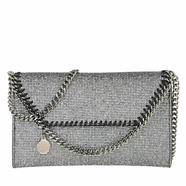 Handtasche, Stella McCartney, Fala Disco Crossbody Bag Silver