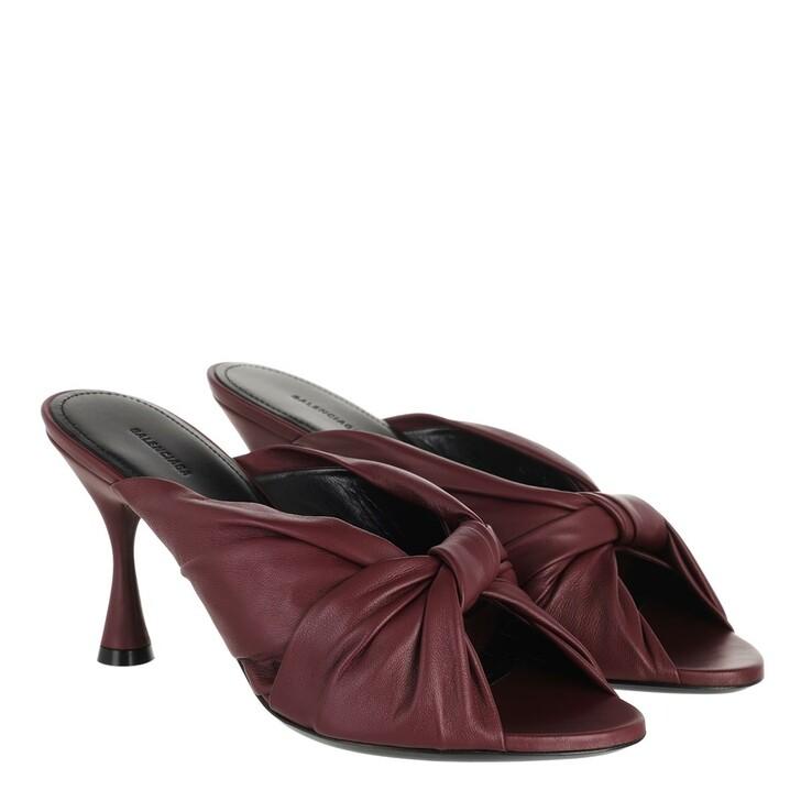 Schuh, Balenciaga, Drapy Sandal Leather Dark Red