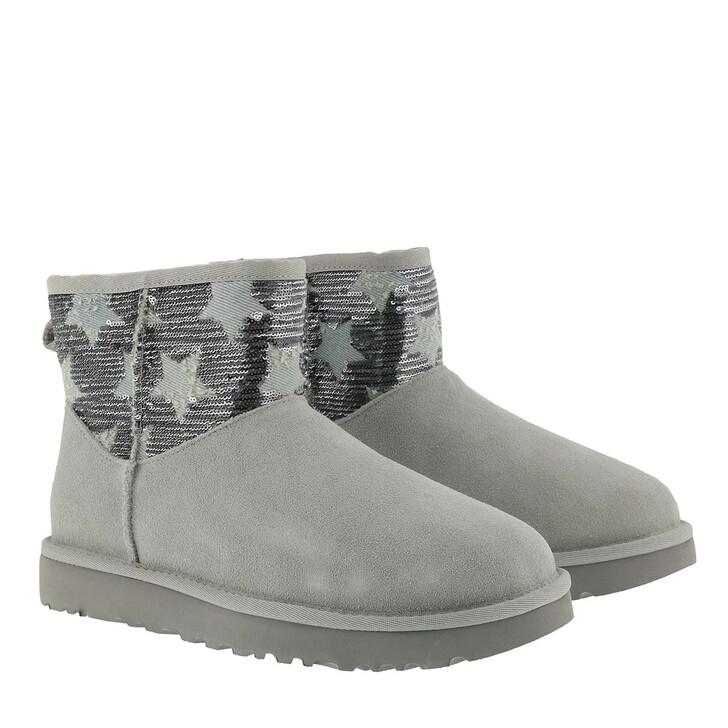 Schuh, UGG, Classic Mini Sequin Stars Boots Grey Violet