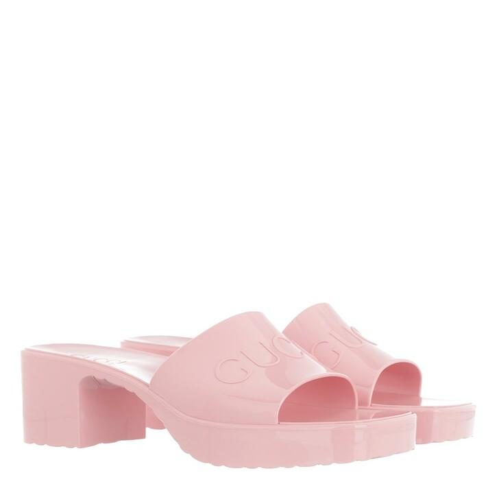 Schuh, Gucci, Slide Sandal Rubber Rose