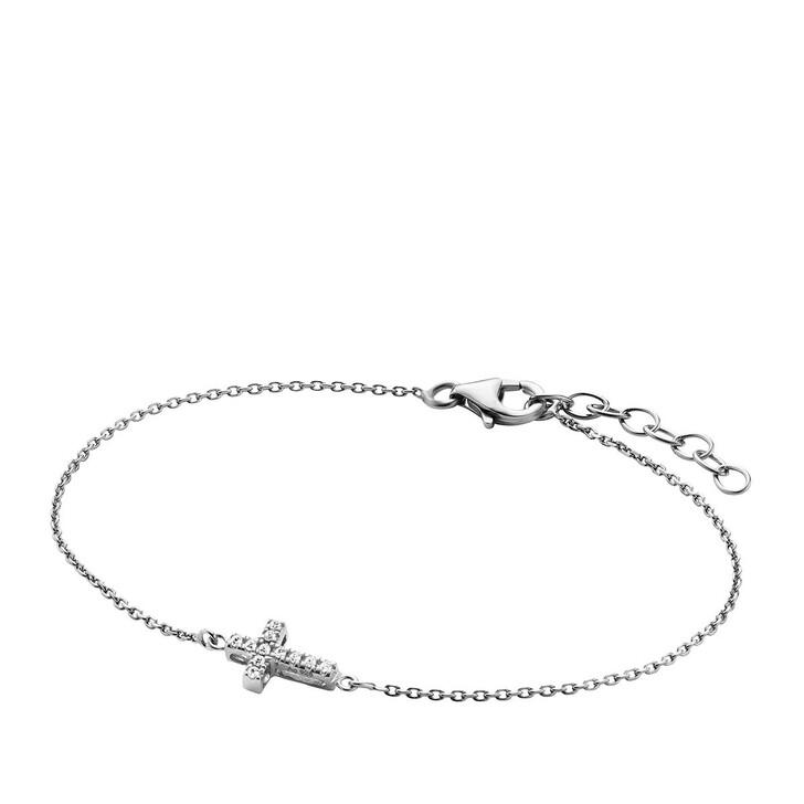 Armreif, BELORO, Bracelet Cross Zirconia  Silver