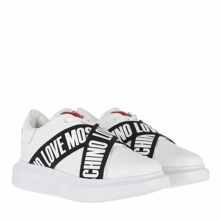 Schuh, Love Moschino, Sneakerd Gomma40 Vitello  Bianco