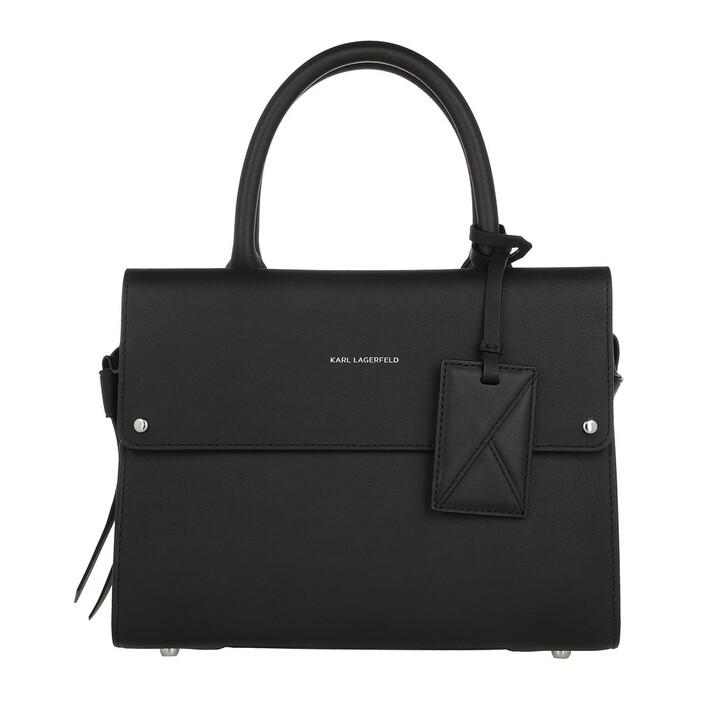 bags, Karl Lagerfeld, K/Ikon Small Top Handle  Black