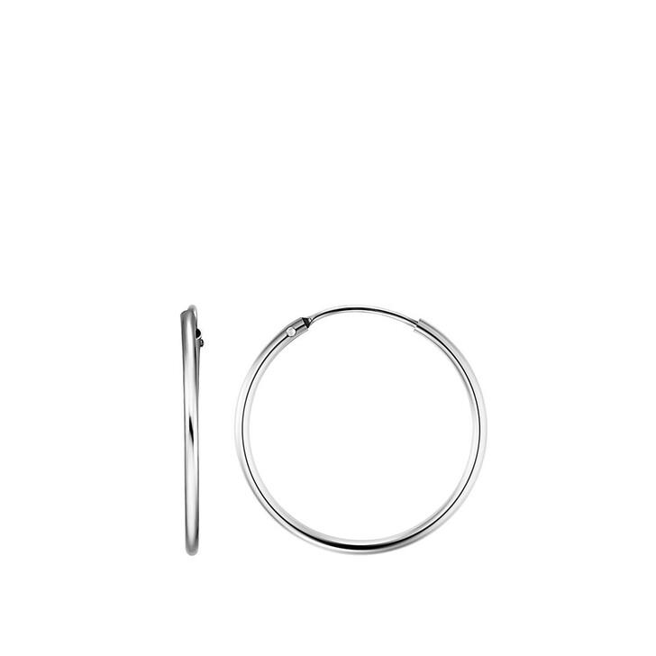 earrings, BELORO, Creole Earring 8k S Silver