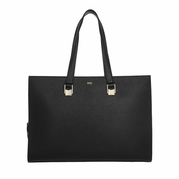 Reisetasche, Boss, Nathalie Workbag Black