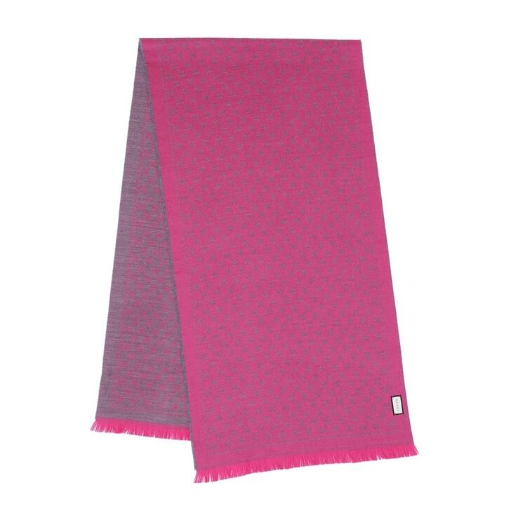 Schal, Gucci, New Sten Scarf Grey/Pink